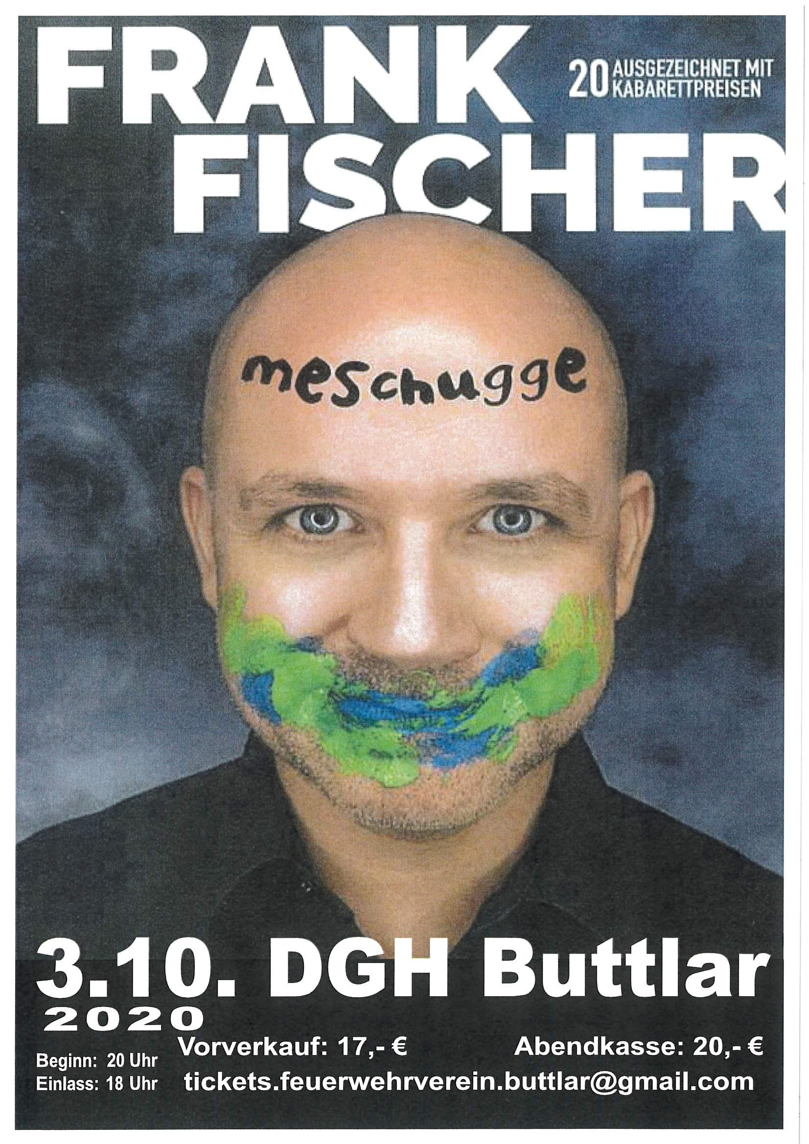 Veranstaltungen - ABGESAGT - Kabarettist Frank Fischer