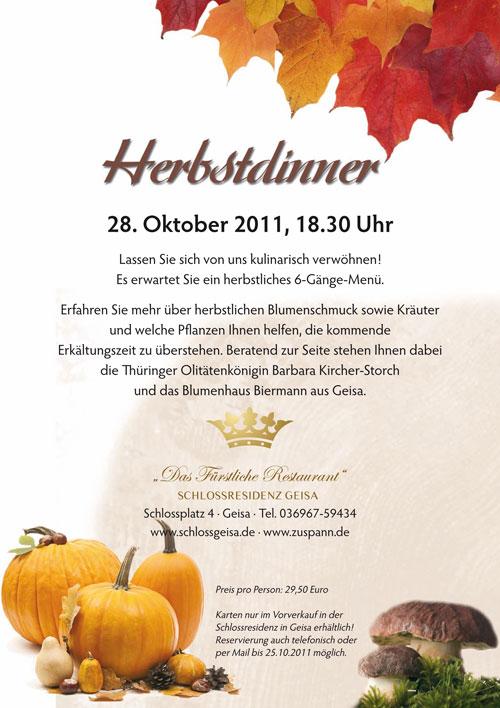 Veranstaltungen - Herbstdinner